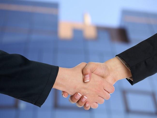 連携、握手、契約